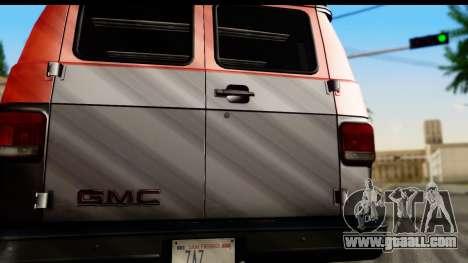 GMC Vandura G-1500 Payday 2 for GTA San Andreas right view