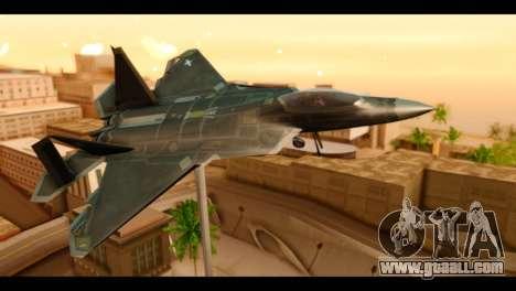 F-22 Raptor Flash for GTA San Andreas