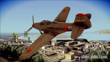 Pokryshkin P-39N Airacobra for GTA San Andreas left view