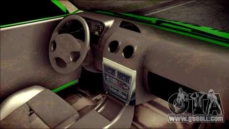 Kia Pride 141 Iranian Taxi for GTA San Andreas right view