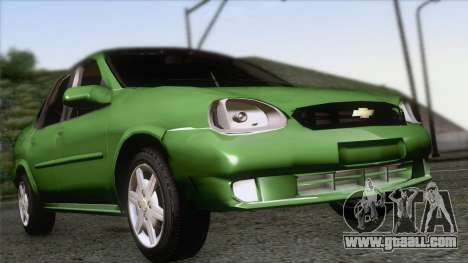 Chevrolet Corsa Classic 2009 for GTA San Andreas back view