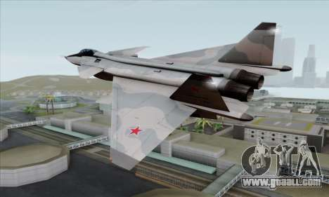 MIG 1.44 Flatpack Russian Air Force for GTA San Andreas left view