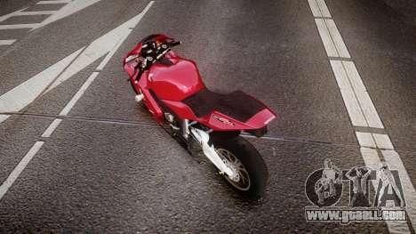 Honda CBR600RR for GTA 4 back left view