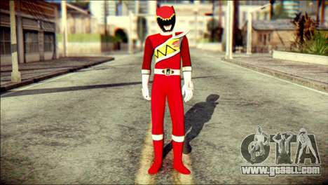 Power Rangers Kyoryu Red Skin for GTA San Andreas