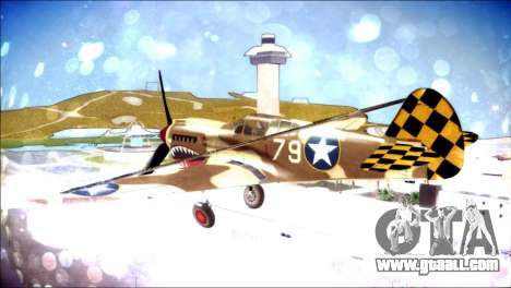 P-40E 325th Fighter Group for GTA San Andreas left view