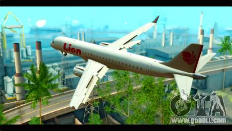 Embraer 190 Lion Air for GTA San Andreas left view