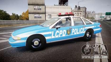 Chevrolet Caprice 1994 LCPD Patrol [ELS] for GTA 4 left view