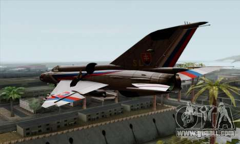 MIG-21MF Slovak Air Force SLP for GTA San Andreas left view