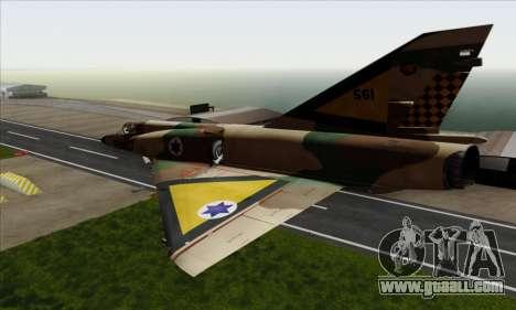 Dassault Mirage III AFI for GTA San Andreas left view