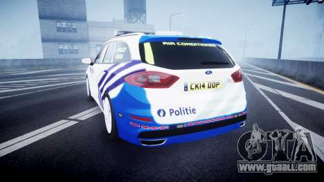 Ford Fusion Estate Belgian Police [ELS] Dog Unit for GTA 4 back left view