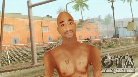 Tupac Shakur Skin v3 for GTA San Andreas third screenshot