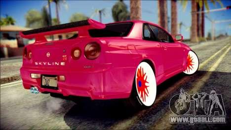 Nissan Skyline GTR V Spec II for GTA San Andreas left view