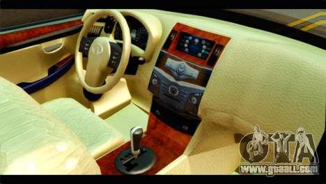 Infiniti QX56 for GTA San Andreas right view