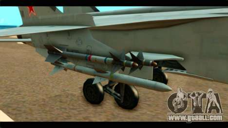 MIG-31 Soviet for GTA San Andreas right view