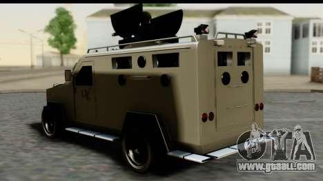 Camion Blindado for GTA San Andreas left view