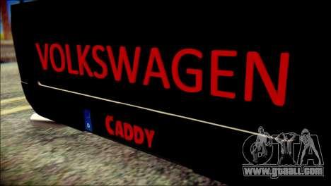 Volkswagen Caddy Widebody Top-Chop for GTA San Andreas back view