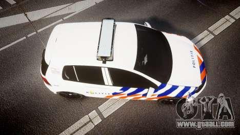 Volkswagen Golf Mk6 Dutch Police [ELS] for GTA 4 right view