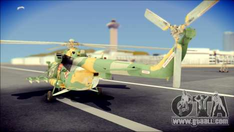 Mil Mi-8 Polish Air Force for GTA San Andreas left view