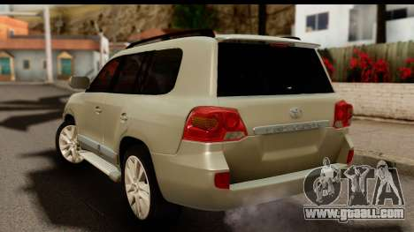 Toyota Land Cruiser 200 2013 for GTA San Andreas left view
