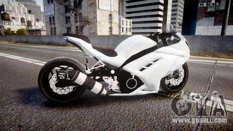 Kawasaki Ninja 250R Tuning for GTA 4 left view