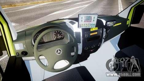 Mercedes-Benz Sprinter 311 cdi Belgian Ambulance for GTA 4 back view