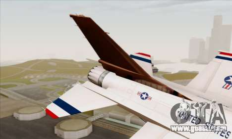 F-16C USAF Thunderbirds for GTA San Andreas back left view