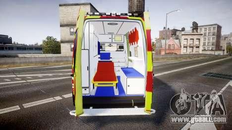 Mercedes-Benz Sprinter 311 cdi Belgian Ambulance for GTA 4 inner view