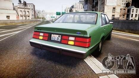 Ford LTD LX 1985 v1.6 for GTA 4 back left view
