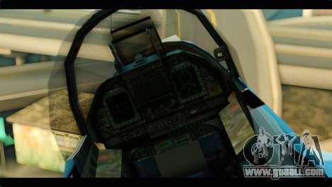 FA-18 Super Hornet Aggressor Squadron for GTA San Andreas back view