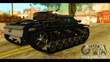 StuG III Ausf. G Girls und Panzer for GTA San Andreas left view