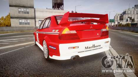 Mitsubishi Lancer Evolution VI 2000 Rally for GTA 4 back left view