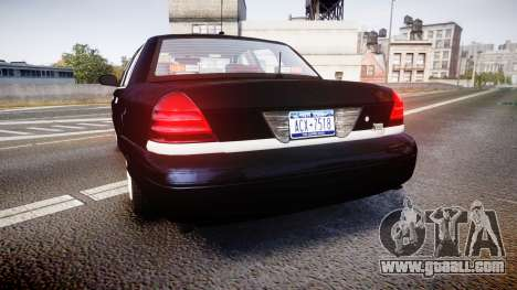 Ford Crown Victoria NYPD Unmarked [ELS] for GTA 4 back left view