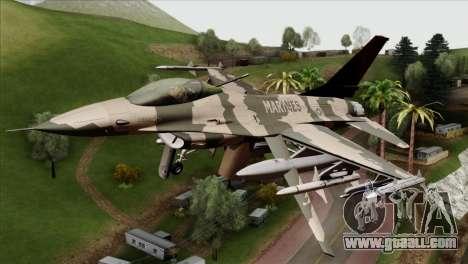 F-16C Top Gun for GTA San Andreas