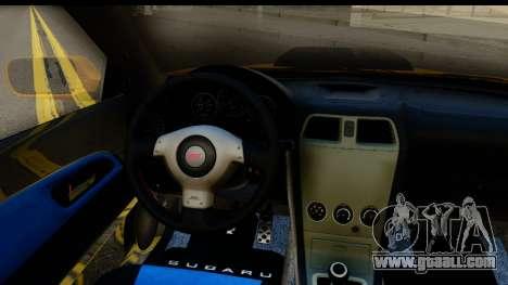 Subaru Impreza WRX STI 2005 Romanian Edition for GTA San Andreas back view