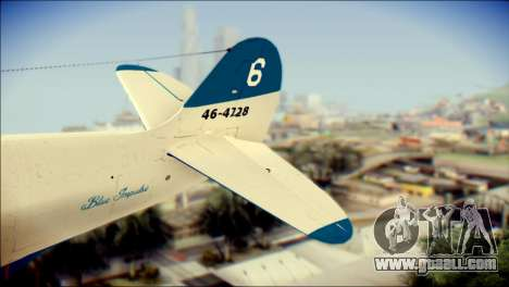 P-39N Airacobra JASDF Blue Impulse for GTA San Andreas back left view