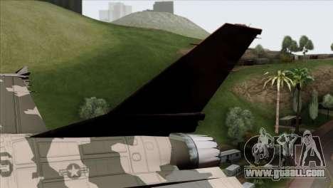F-16C Top Gun for GTA San Andreas back left view