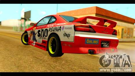 Nissan Silvia S14 Yuuki Asuna Itasha for GTA San Andreas left view