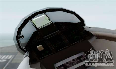 MIG 1.44 Flatpack Russian Air Force for GTA San Andreas right view