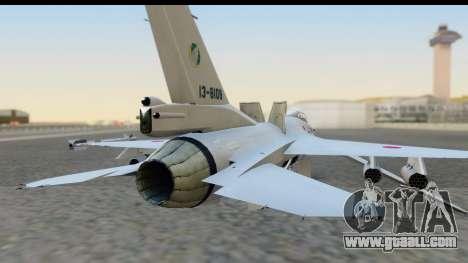 F-2A Zero White for GTA San Andreas back view