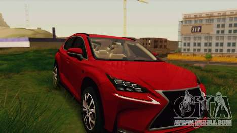 Lexus NX200T v2 for GTA San Andreas back view