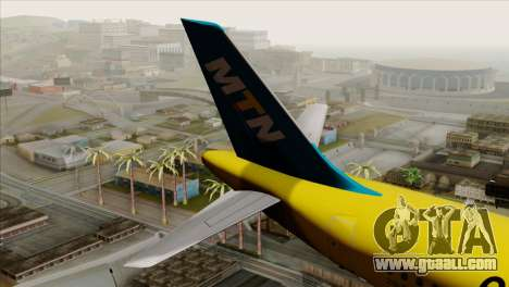 Airbus A320-200 MTN for GTA San Andreas back left view
