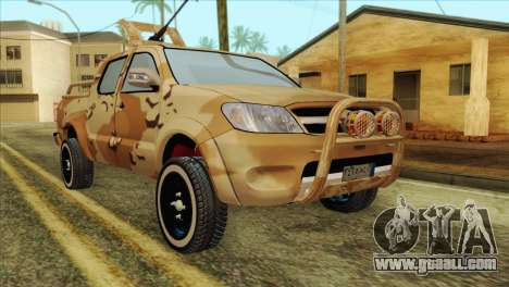 Toyota Hilux Siria Rebels without flag for GTA San Andreas