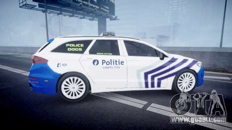 Ford Fusion Estate Belgian Police [ELS] Dog Unit for GTA 4 left view