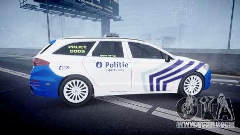 Ford Fusion Estate Belgian Police [ELS] Dog Unit for GTA 4 left view