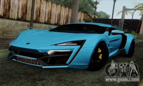 Lykan Hypersport 2014 EU Plate Livery Pack 2 for GTA San Andreas