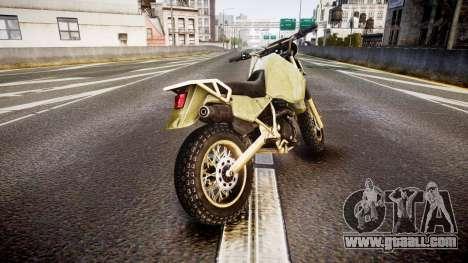 Dirt Bike for GTA 4 back left view