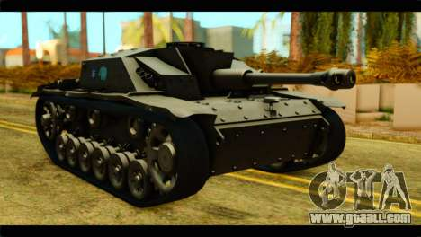StuG III Ausf. G Girls und Panzer for GTA San Andreas