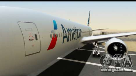 Boeing 777-200ER American Airlines for GTA San Andreas back view