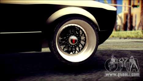Volkswagen Caddy Widebody Top-Chop for GTA San Andreas back left view