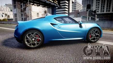 Alfa Romeo 4C 2014 HD Textures for GTA 4 left view